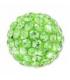 Pulsera plata ley 925 y cristal strass color Fucsia